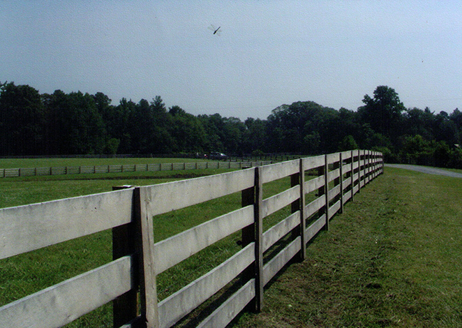 sturdy farm fence