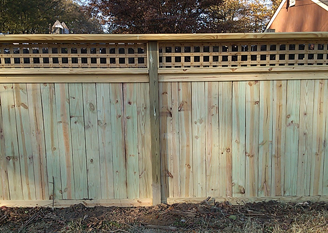 professional fence with lattice top